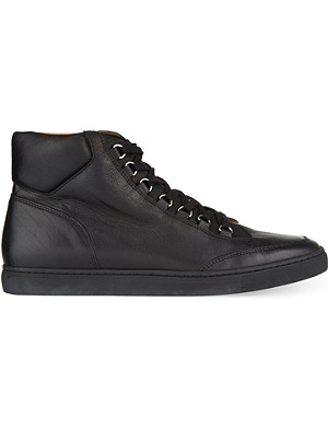 KG KURT GEIGER Brickers leather high-top trainers