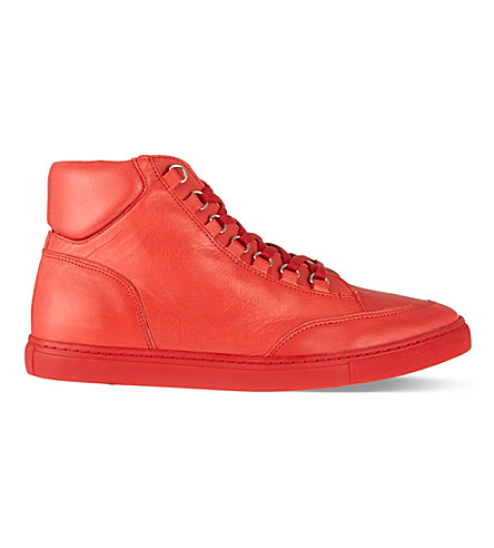KG KURT GEIGER Brickers leather high tops (Red
