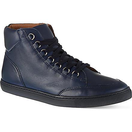 KG KURT GEIGER Brickers leather high tops (Navy