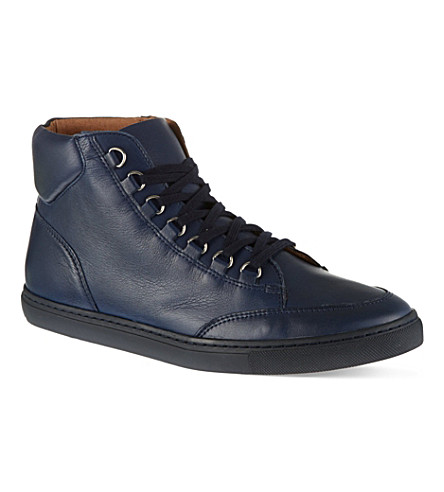 KG KURT GEIGER Brickers leather high tops (Navy