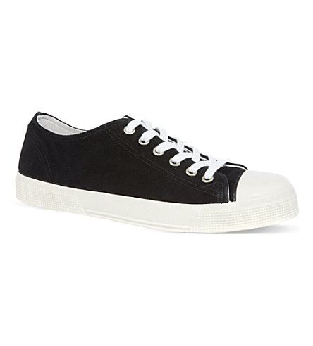 KURT GEIGER LONDON Beeby suede trainers (Black