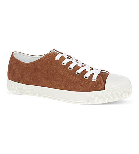 KURT GEIGER LONDON Beeby suede trainers (Tan