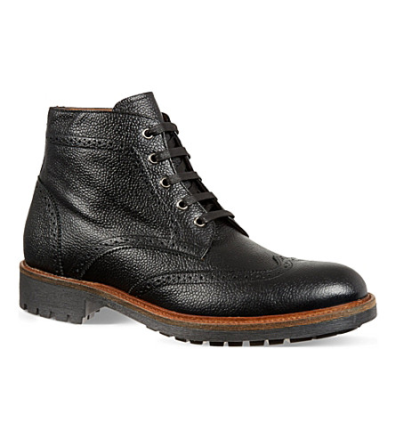 KURT GEIGER LONDON Percy brogue boots (Black
