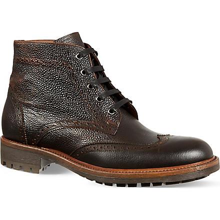 KURT GEIGER Percy brogue boots (Brown