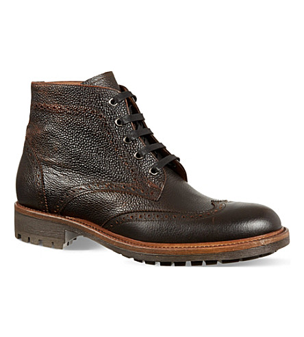 KURT GEIGER LONDON Percy brogue boots (Brown