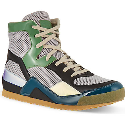 MAISON MARTIN MARGIELA Tech fabric high-tops (Grey