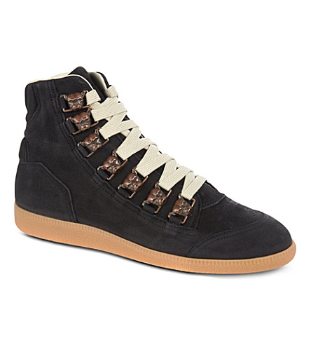 MAISON MARTIN MARGIELA Dog suede high tops (Black