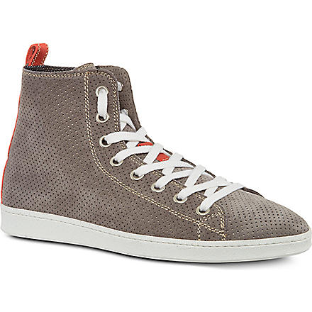 D SQUARED Basquette perforated high tops (Grey