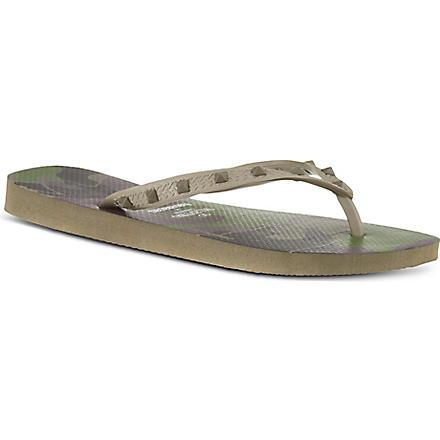 VALENTINO Havaiana stud flip flops (Khaki
