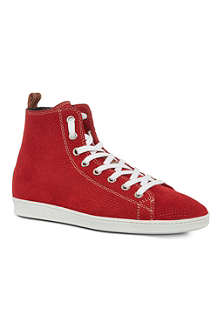 D SQUARED Basquette perforated high tops