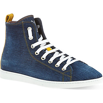 D SQUARED Basquete denim high tops (Blue