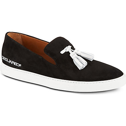 D SQUARED Tasseled slip-on shoes (Black