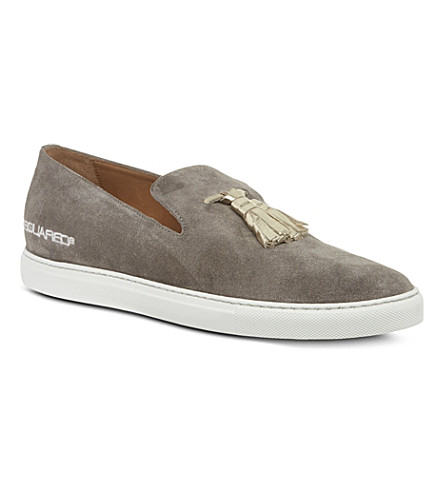 D SQUARED Tasseled slip on shoes (Grey
