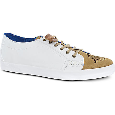OLIVER SWEENEY Alma suede-canvas trainers (White