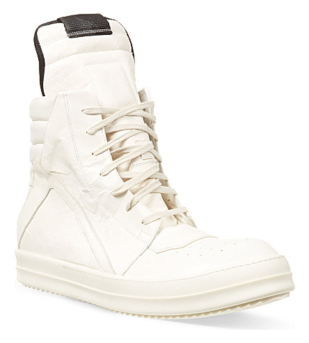RICK OWENS Geo Basker trainers (White