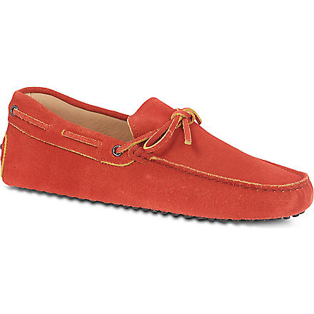 TODS Gommino Driving Shoes in Suede (Red