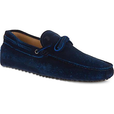 TODS Gommino Driving Shoes in Suede (Blue