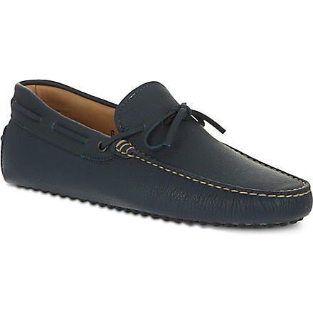 TODS 122 tie driving shoes (Navy