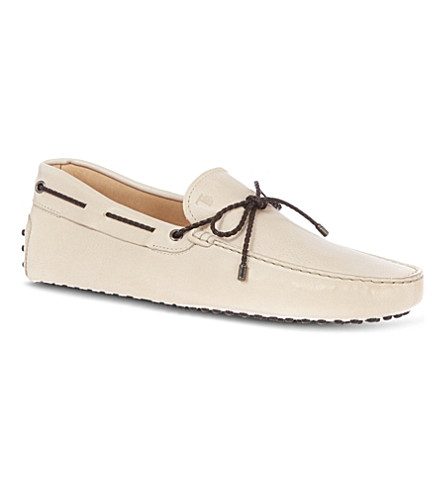 TODS Gommino heaven driving shoes in leather (Cream