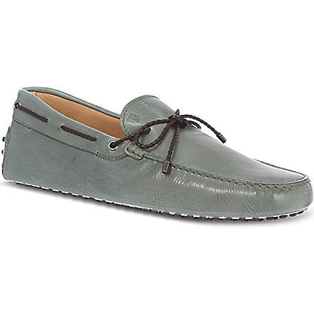TODS Gommino Driving Shoes in Leather (Green