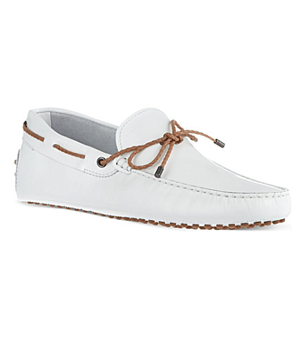 TODS Gommino heaven driving shoes in leather (White