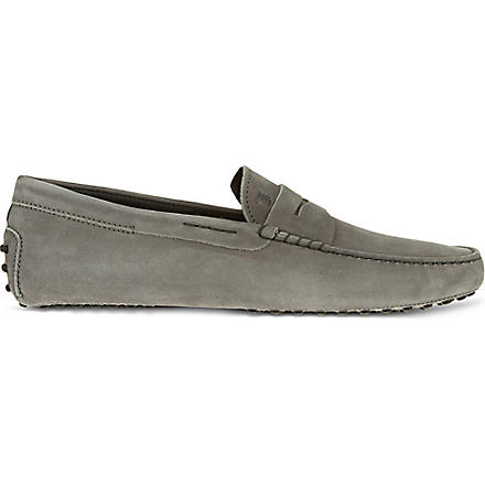 TODS Gommino Driving Shoes in Nubuck (Grey