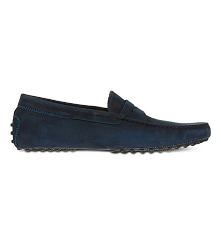 TODS Gommino Driving Shoes in Suede (Navy