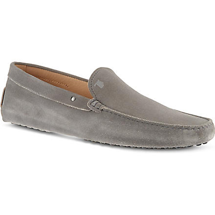 TODS Plain suede driver shoes (Grey