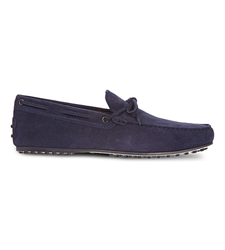 TODS Nubuck loafers (Navy