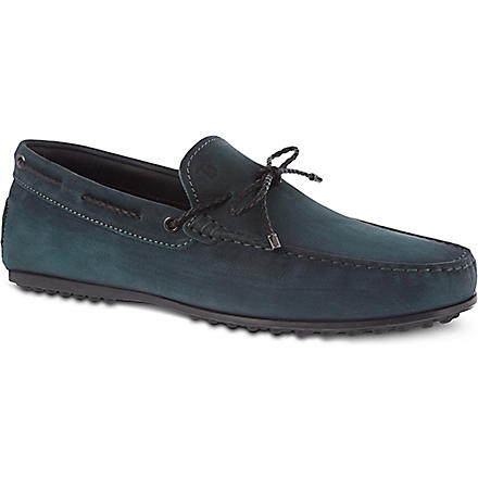 TODS Gommino heaven loafers in nubuck (Grey