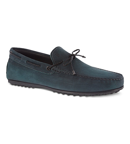 TODS Gommino heaven loafers in nubuck (Grey