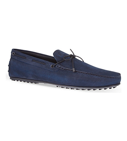 TODS Gommino heaven driving shoes in leather (Navy