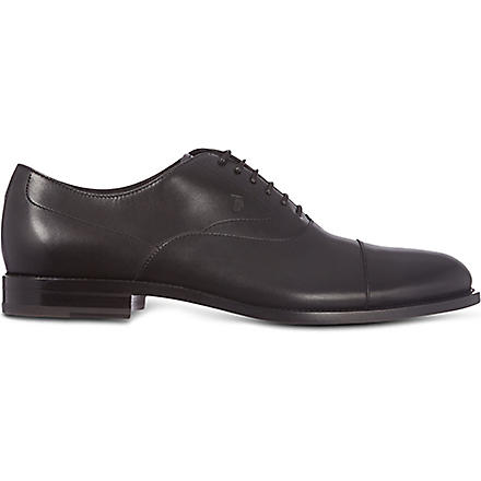 TODS Leather Lace-up Shoes (Black