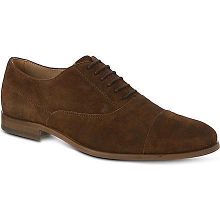 TODS Suede Lace-up Shoes (Brown