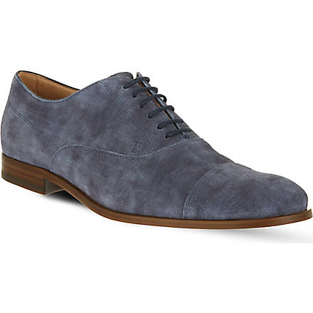 TODS Suede Oxford toecap shoes (Blue