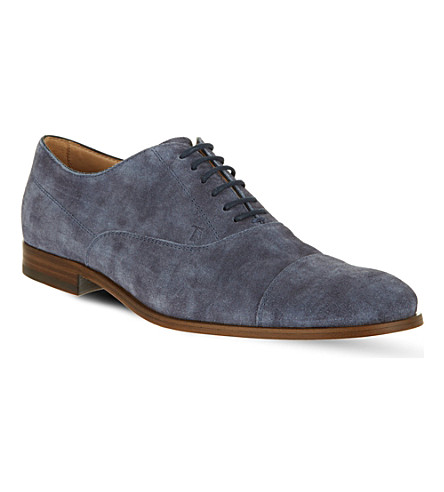 TODS Suede Lace-up Shoes (Blue