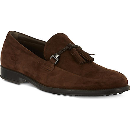 TODS Suede Loafers (Brown