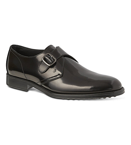 TODS Leather monk-strap shoes (Black