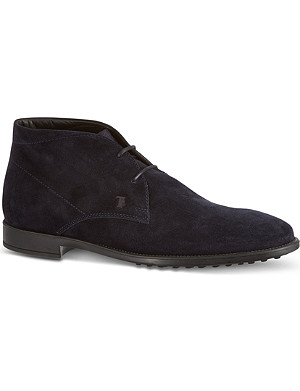 TODS Suede Lace-up Ankle Boots