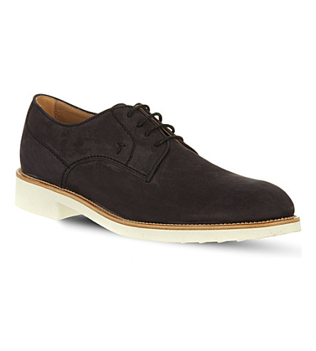 TODS Nubuck Lace-up Shoes (Navy