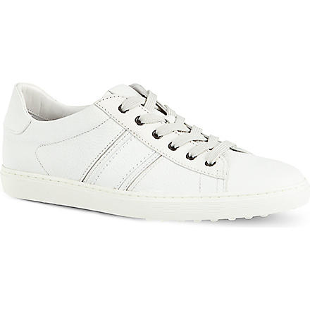 TODS Leather tennis sneakers (White