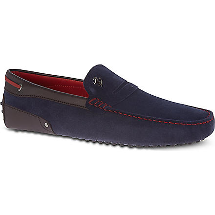 TODS Strapback penny loafers (Navy