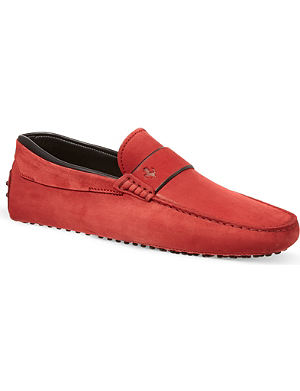 TODS Ferrari Gommino driving shoes in suede