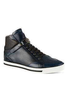 VERSACE Medusa strap perforated high tops