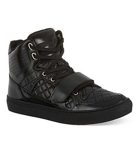 CREATIVE RECREATION Cota quilted high top trainers (Black