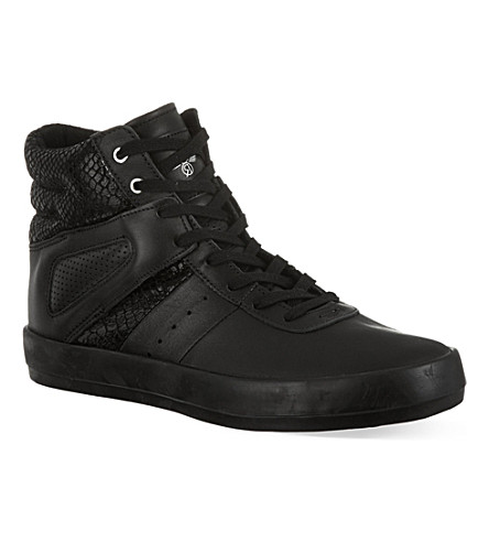 CREATIVE RECREATION Self reptile print high top trainers (Black