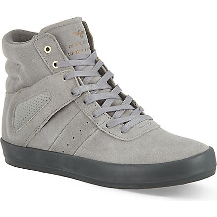 CREATIVE RECREATION Self suede high top trainers (Grey