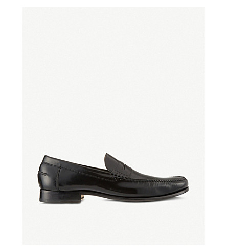 BARKER Newington penny loafers (Black