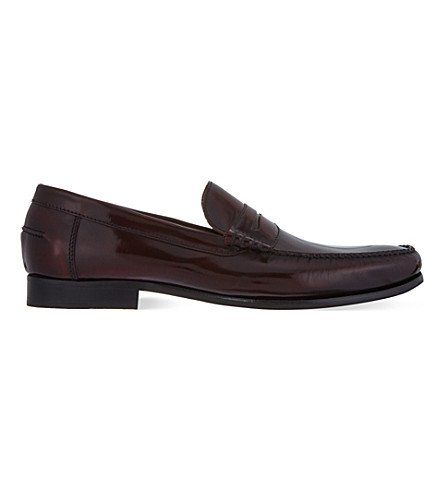 BARKER Newington penny loafers (Wine