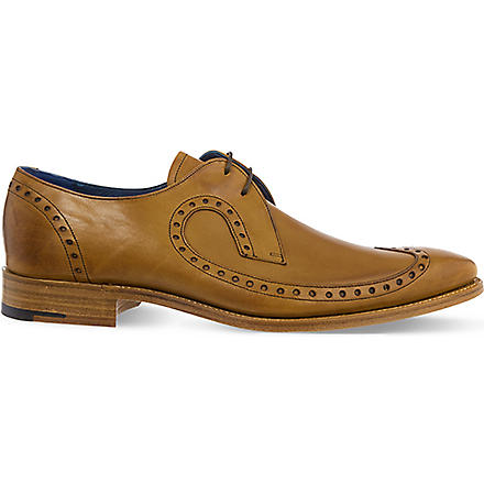 BARKER Woody wingcap derby shoes (Tan